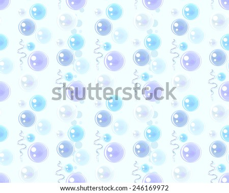 transparent bubbles on a light