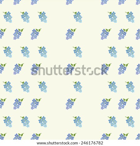 forget me not flower vector