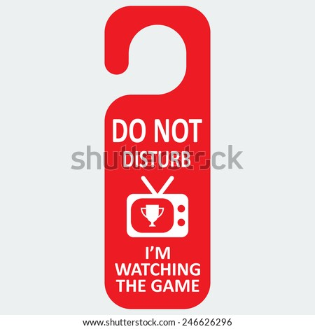 vector hotel tag do not disturb