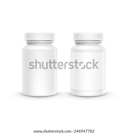 vector blank plastic packaging