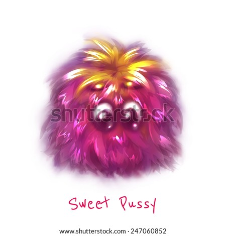 vector sweet pink pussy on