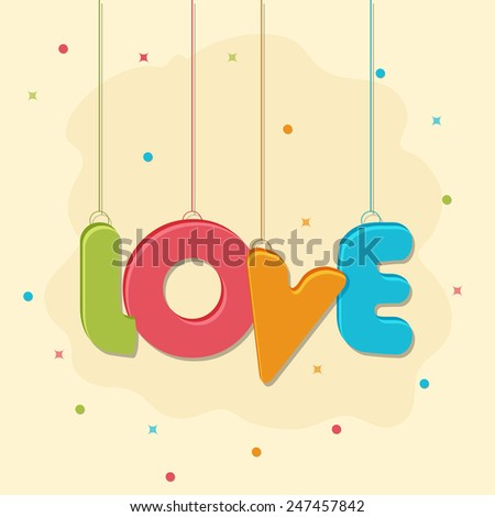 a cute design with love hanging