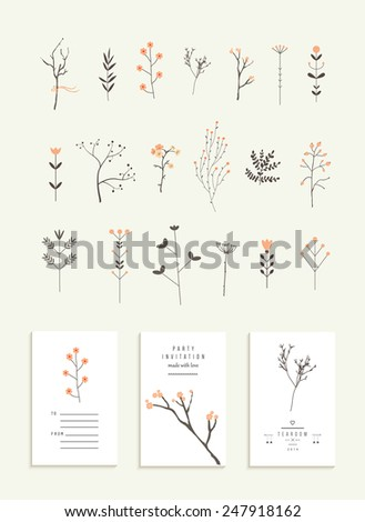 collection of branches and