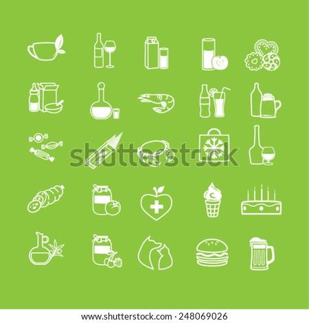 set of shop market icons