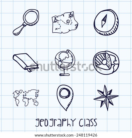 geography class design  vector