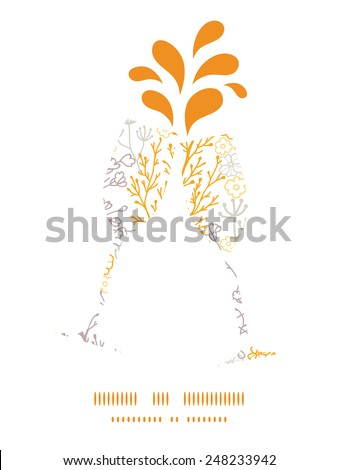 vector magical floral toasting