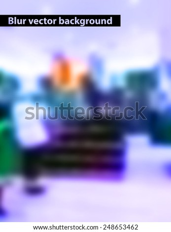 blurred interior of the store