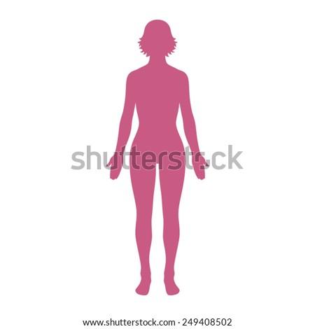 female human body belonging to