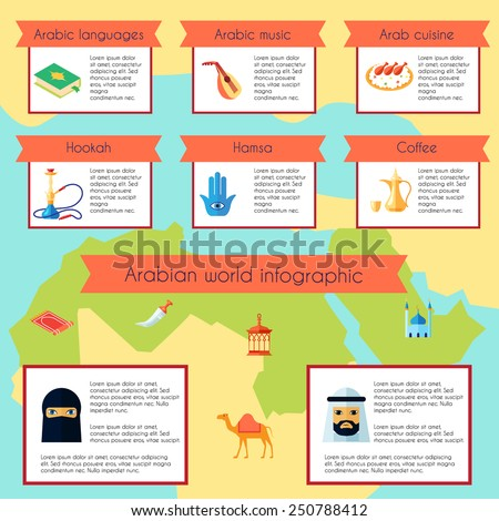 arabic culture infographic set