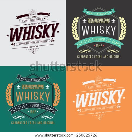 hand crafted whisky lettering