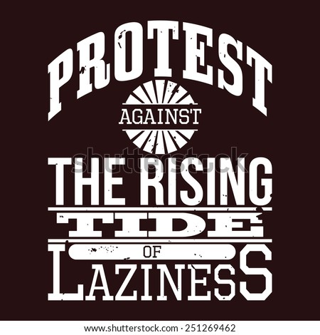 protest against the rising tide