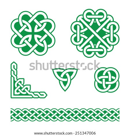 celtic knots green patterns