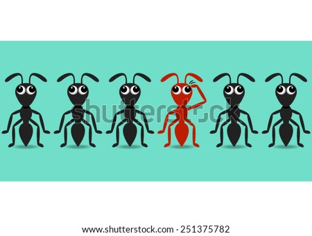black ant cartoon characters