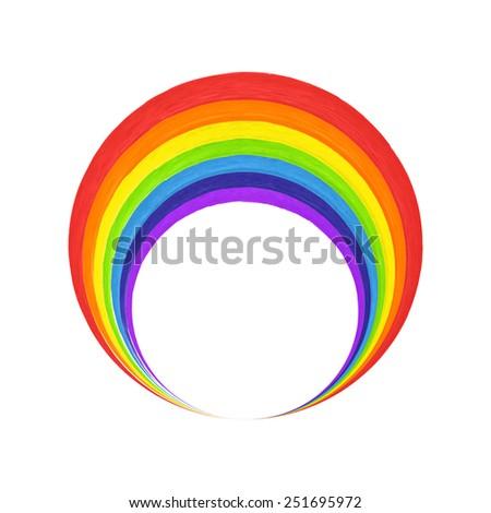 rainbow arc  logo template    t