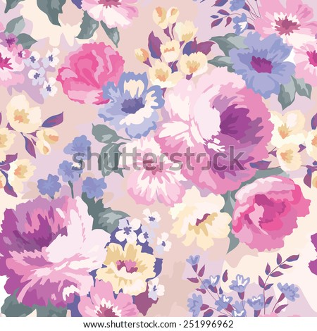 beautiful seamless floral