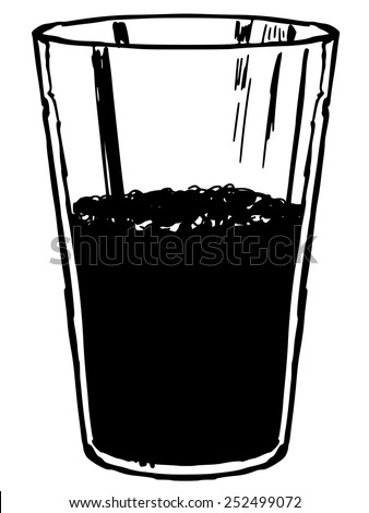 black silhouette of glass of