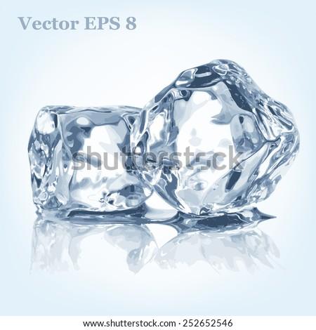 ice cubes  vector eps 8