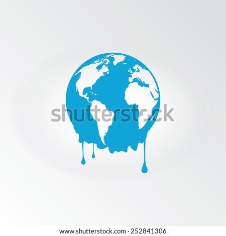 melting earth   global warming