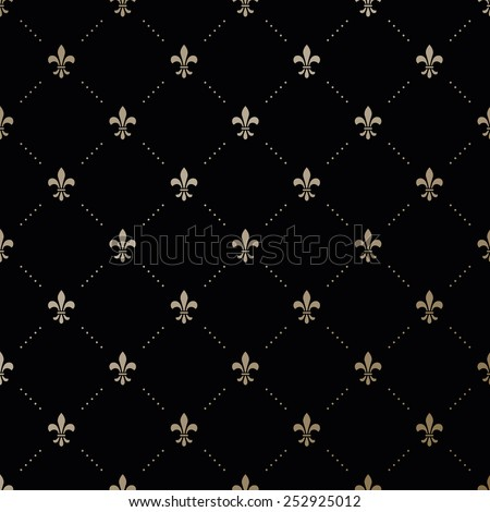 seamless vector gold pattern