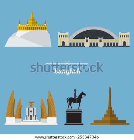 icon set of bangkok city