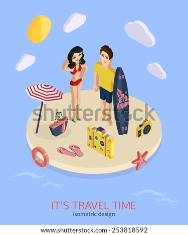 it's travel time 3d isometric