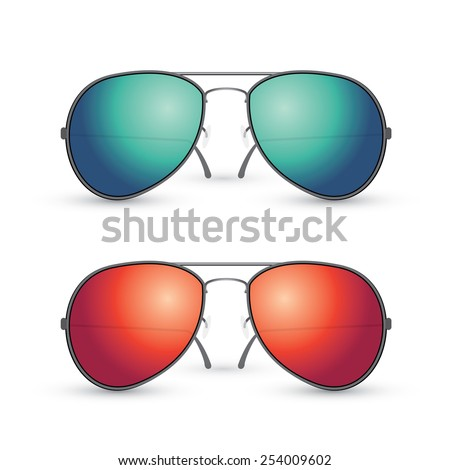 vector set of multicolored