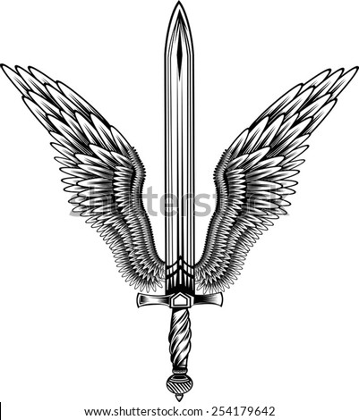 sword with wings