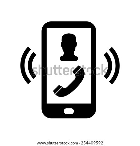 vector phone incoming call icon