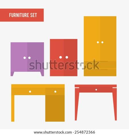 furniture set  wardrobe  chest