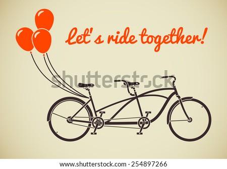 classic romantic tandem bicycle