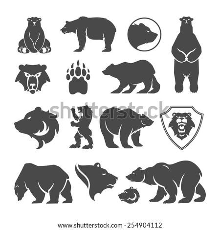 vintage bear mascot  emblems