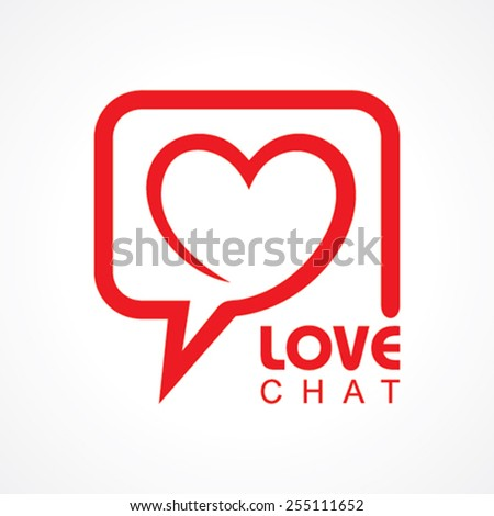 chat for love concept stock
