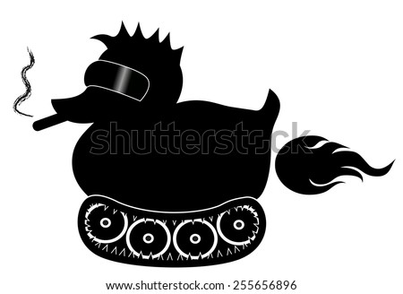 black rubber duck with cool