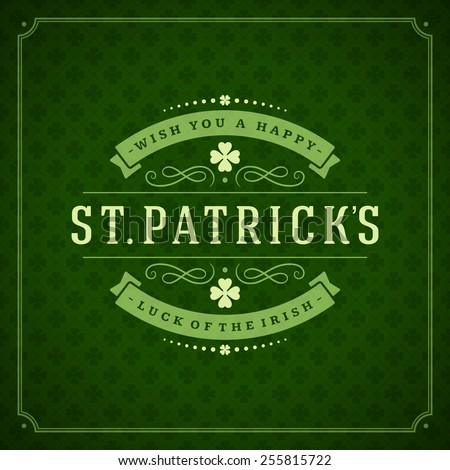 typographic saint patrick's day