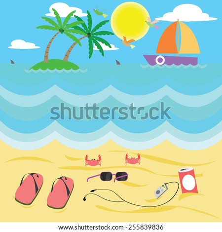 vector cartoon and leisure