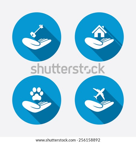 helping hands icons shelter