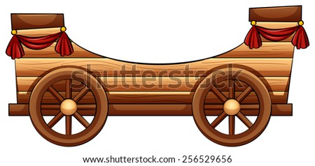 improvised wooden bandwagon on