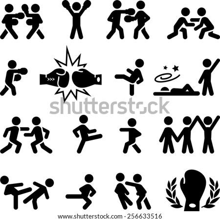 fighting  wrestling  martial