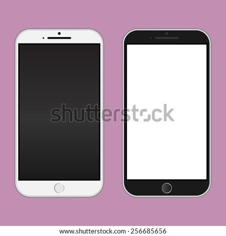 smartphone black and white