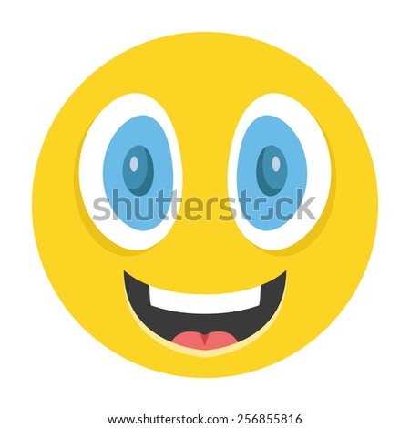 happy emoticon vector