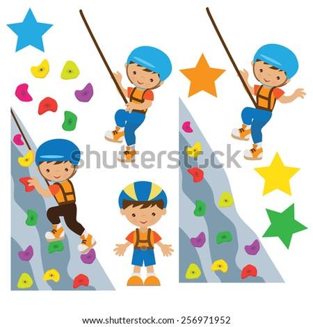 climbing vector illustration