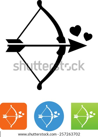 bow and arrow with hearts