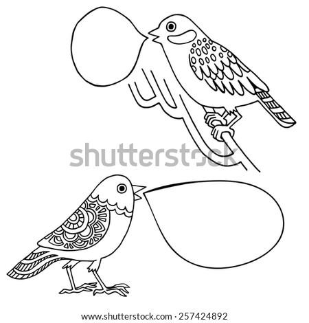 bird vector setbird background