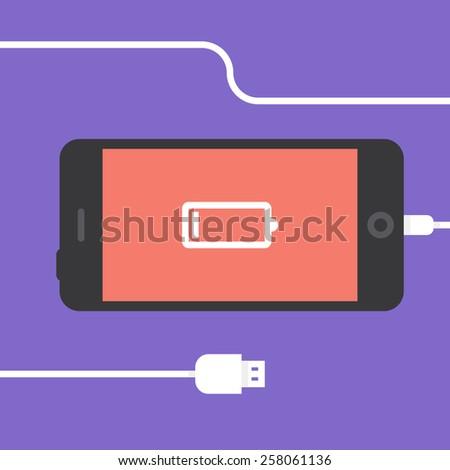 phone charging  flat icon