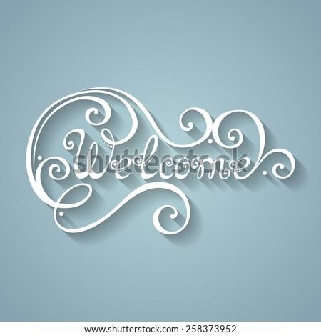 vector welcome inscription