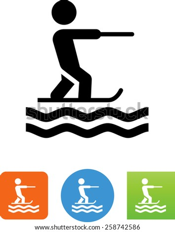person water skiing symbol for