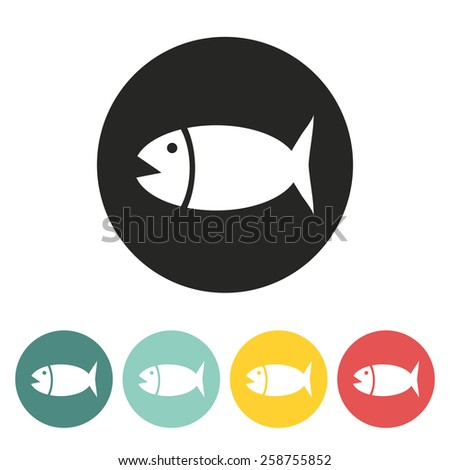 big fish iconvector