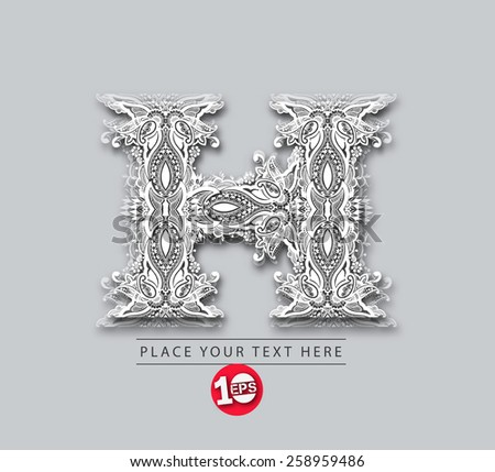 letters h floral elements of