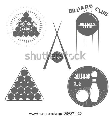 set of billiards labels or