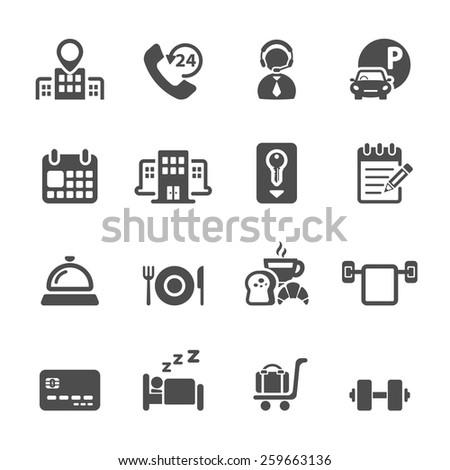 hotel service icon set 3